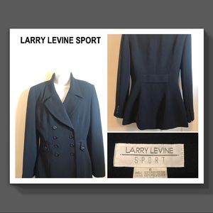 🔘 LARRY LEVINE 🔘 Sport Dbl Breasted Suit Jacket